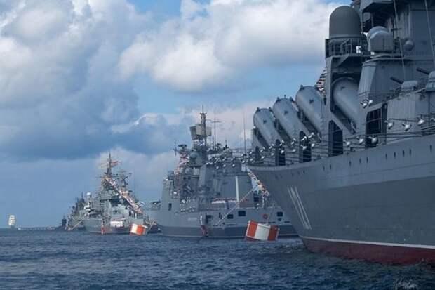 Сколько кораблей Черноморского флота приняли участие в праздновании Дня ВМФ?