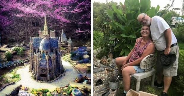 Творческие пенсионеры создали сад из камней, где даже есть мини-собор Парижской Богоматери