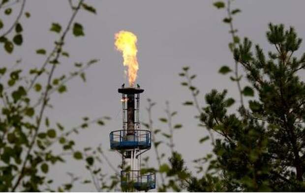 A flame burning natural gas is seen at an oil refinery located on a branch of the Druzhba oil pipeline, which moves crude through the pipeline westwards to Europe, near Mozyr, some 300 km (186 miles) southeast of Minsk, September 11, 2013. REUTERS/Vasily Fedosenko