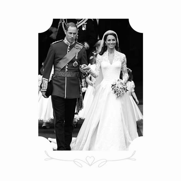 Принц Уильям и Кейт Миддлтон в платье Alexander McQueen