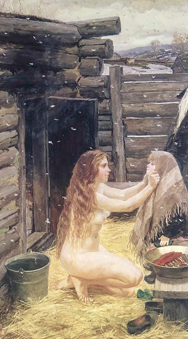 Баня в картинах русских художников