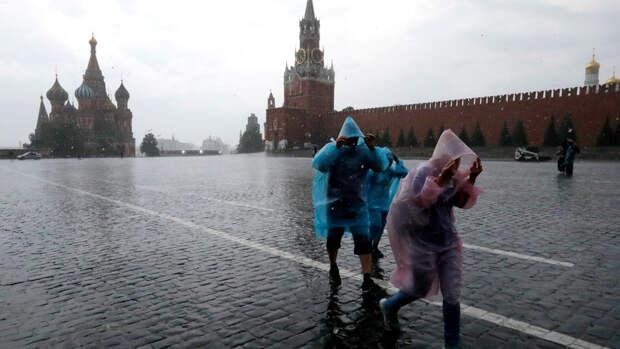 Небольшой дождь и до +9°С ожидается в Москве