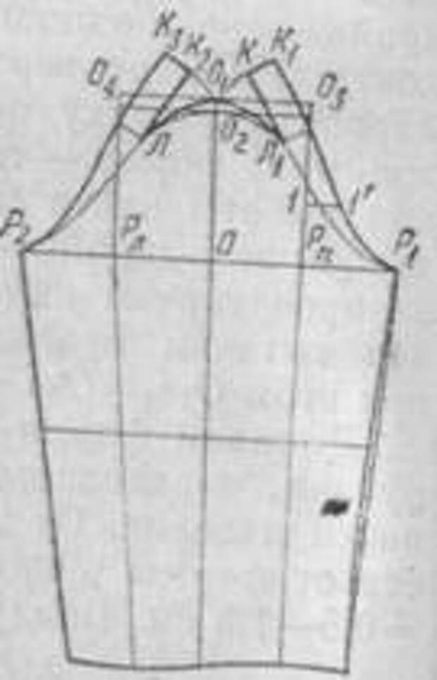 чертеж рукава с верхним и нижним швами