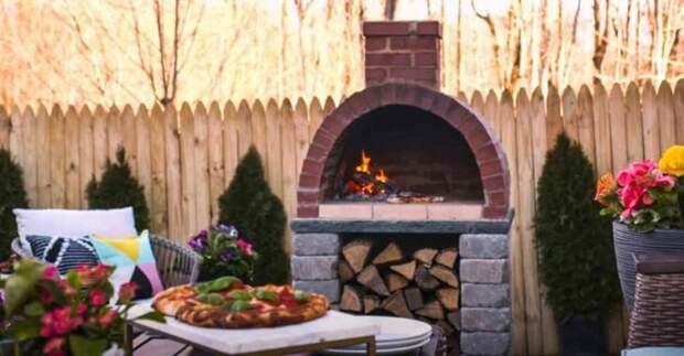 Уличная кирпичная печь для пиццы