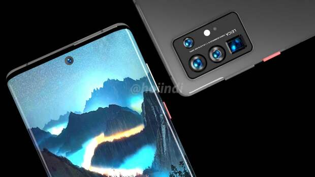 В сети появились изображения флагмана Huawei P50 Pro с экраном-водопадом