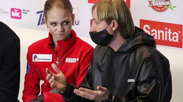 «По-человечески очень жалко Сашу, сегодня не ее день». Ягудин — о падениях Трусовой в произвольной Гран-при России