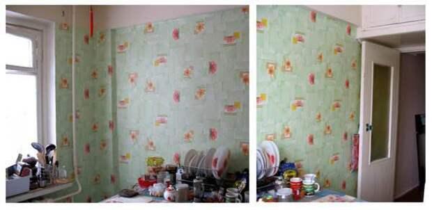Роспись стены с нишей на кухне самостоятельно