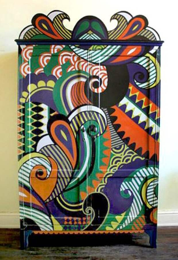 Идеи и вдохновение - росписная мебель