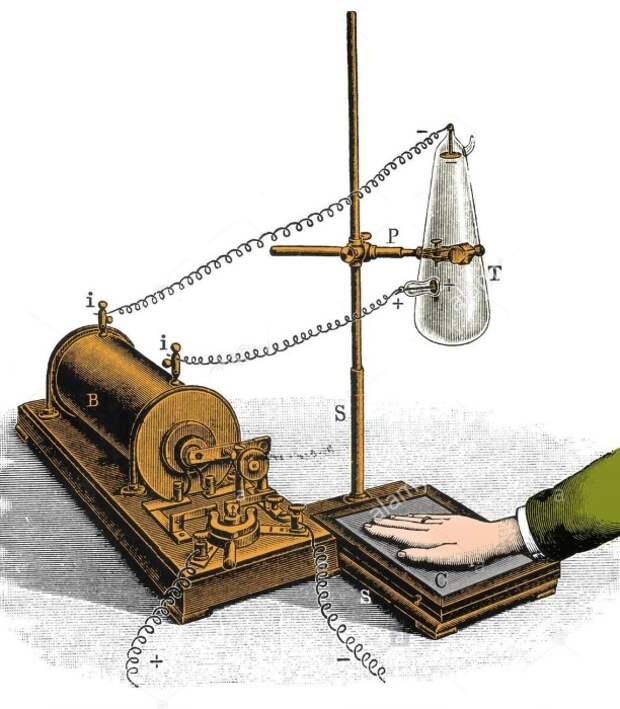 Схема получения первых рентгеновских снимков. | Фото: alamy.com.