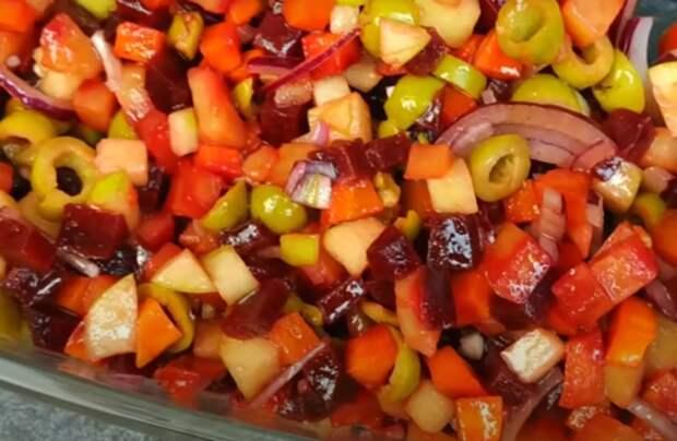 Новый рецепт салата со свеклой