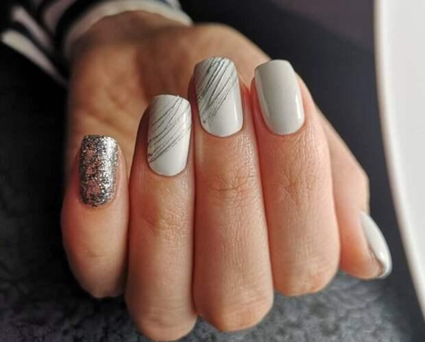 Дизайн ногтей с гель – краской «Паутинка»
