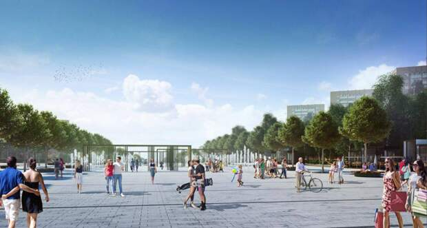 Сухой фонтан появится в нижней части Центральной площади Ижевска