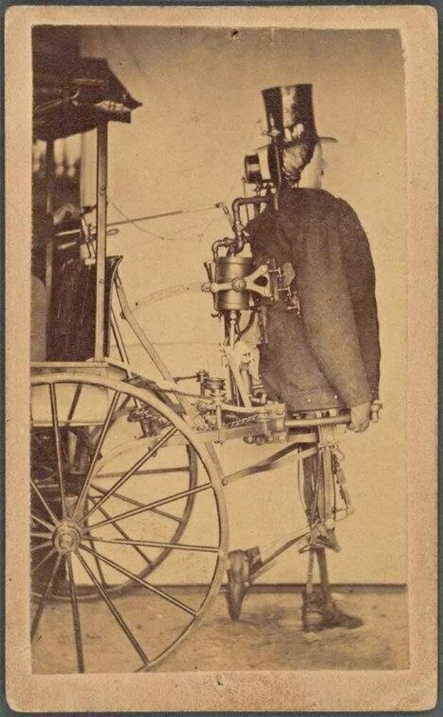Первый в мире паровой робот