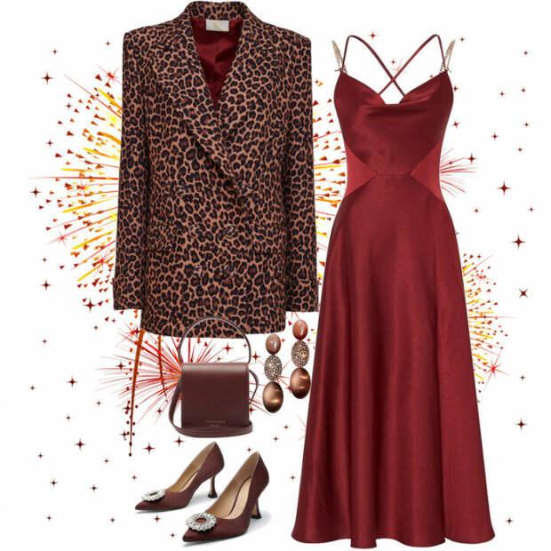 Что надеть на Новый год 2021? Модные сеты с вечерними платьями и жакетами