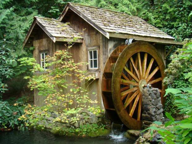 Водяная мельница, сделанная своими руками
