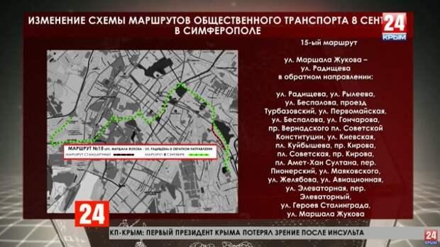8 сентября изменят схему маршрутов некоторых автобусов в Симферополе