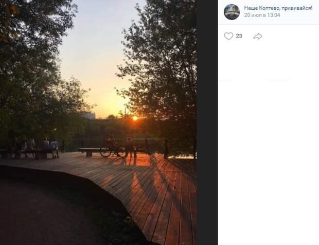 Фото дня: тихий вечер на Головинских прудах