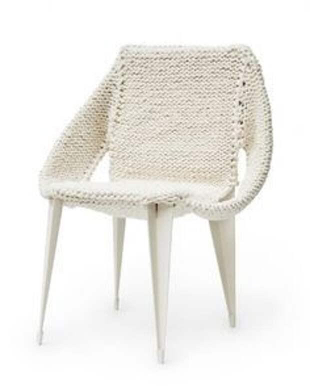 Шикарные вязаные кресла и стулья (подборка)