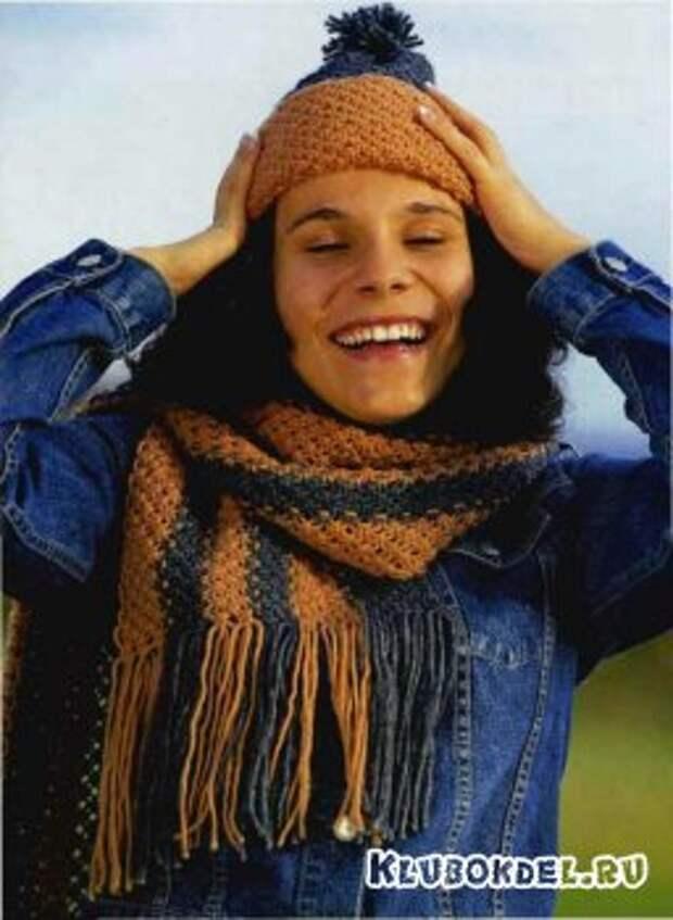 Шапочка и шарф для осенней непогоды