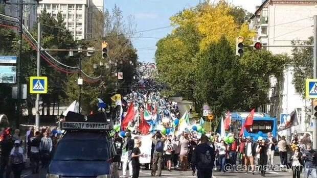 Почему в Хабаровске выносят на протесты не российские флаги