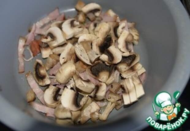 Капуста, тушённая с перцем и шампиньонами ингредиенты