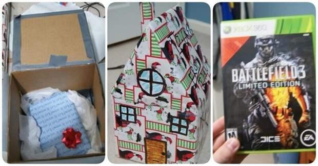 10. В этот домик можно было упаковать все, что угодно мастера упаковки, подарок, прикол, упаковка