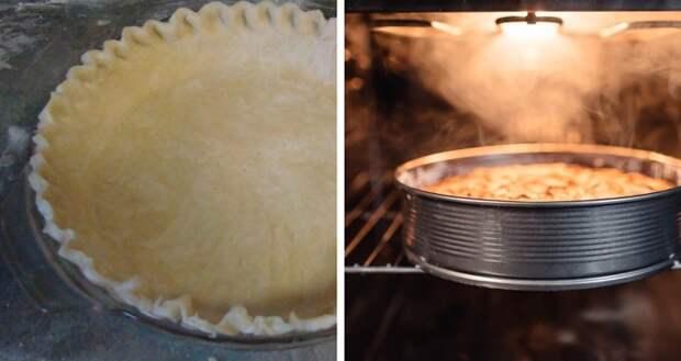 пирог с орехами и мёдом