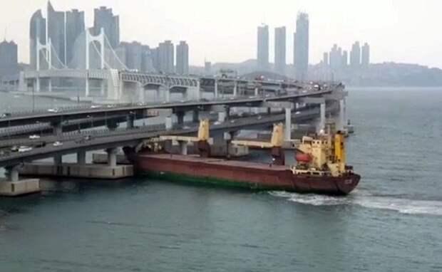 В Южной Корее потребовали посадить российского капитана за таран моста в Пусане