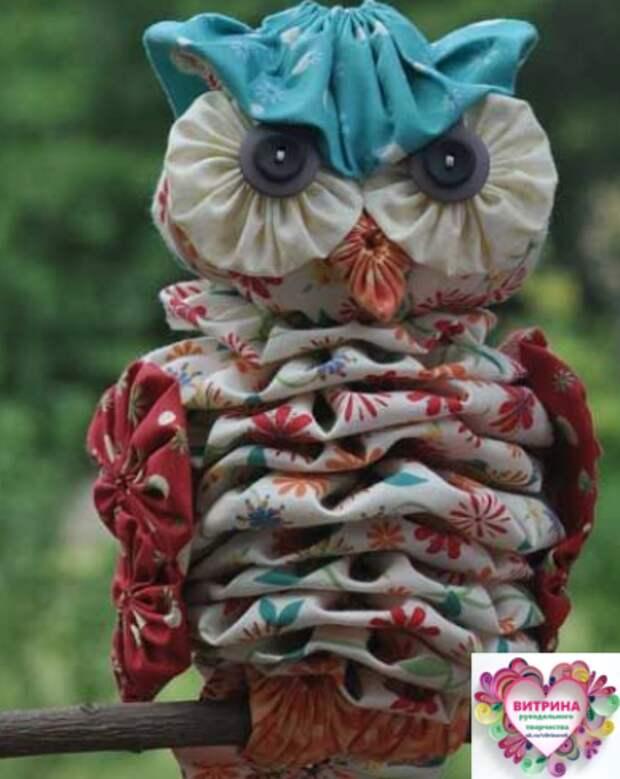 Симпатичные совушки из ткани. Идеи для рукоделия....