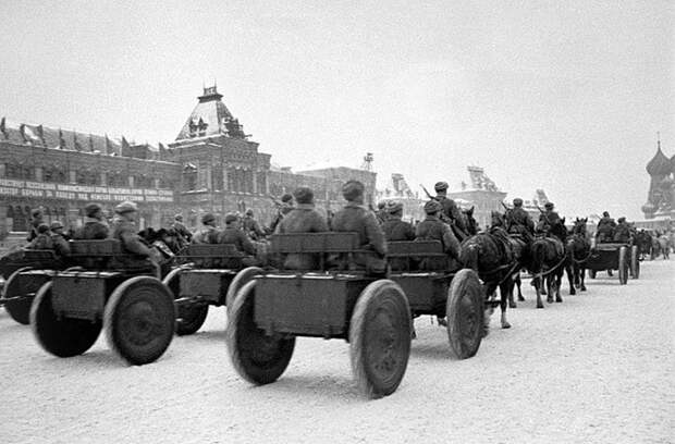 Подготовка и Военный парад на Красной площади 7 ноября 1941 года