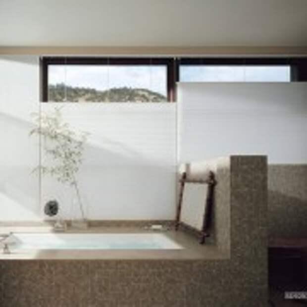Решкие линии в оформлении ванной