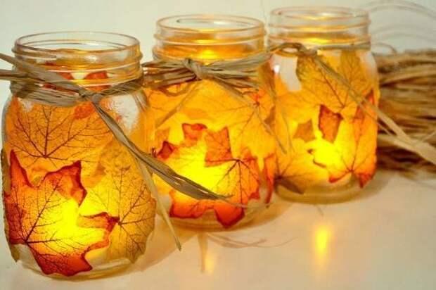 Хенд мейд идеи для дома своими руками из листьев и банок
