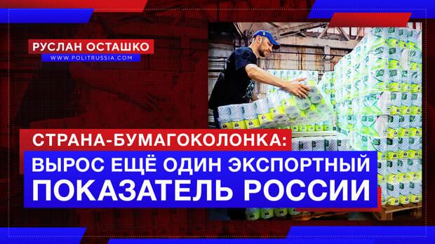 Страна-бумагоколонка: вырос ещё один экспортный показатель России