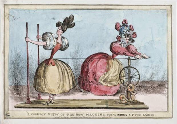 Подлинный вид новой машины для шнуровки дам. 1829 год