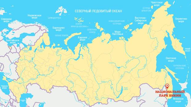 национальный парк бикин карта