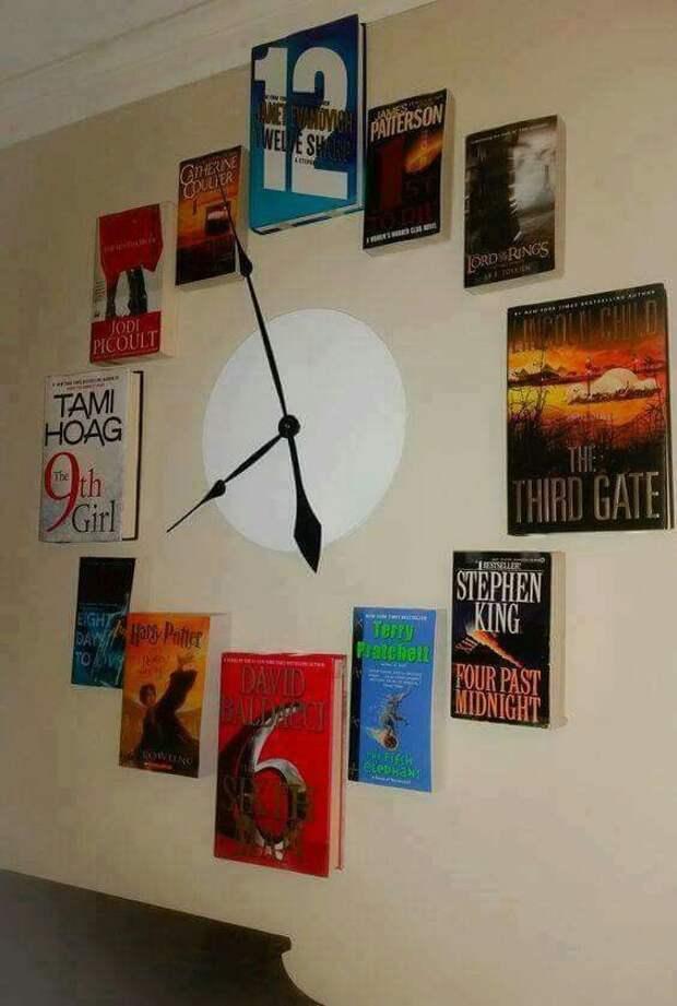 Книжные часы (подборка, diy)