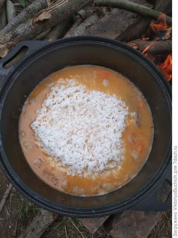 Добавляю в зирвак рис