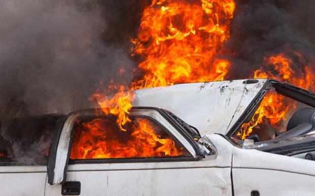 Ад на дороге: грузовик с газом попал в ДТП и взорвался