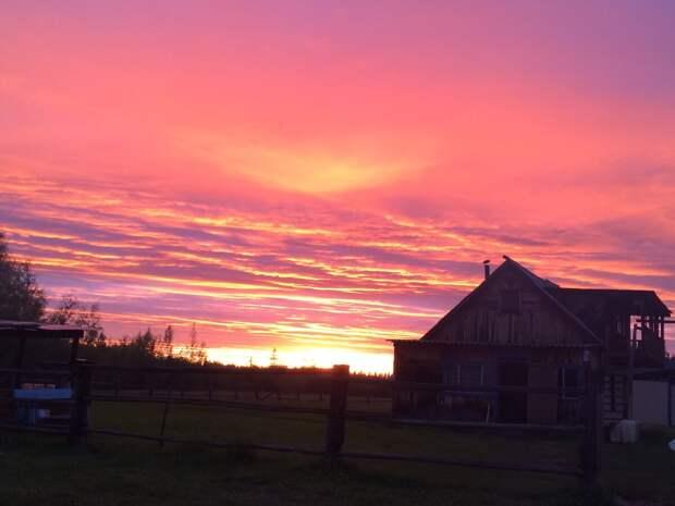 Самые красивые закаты - это закаты в Якутии