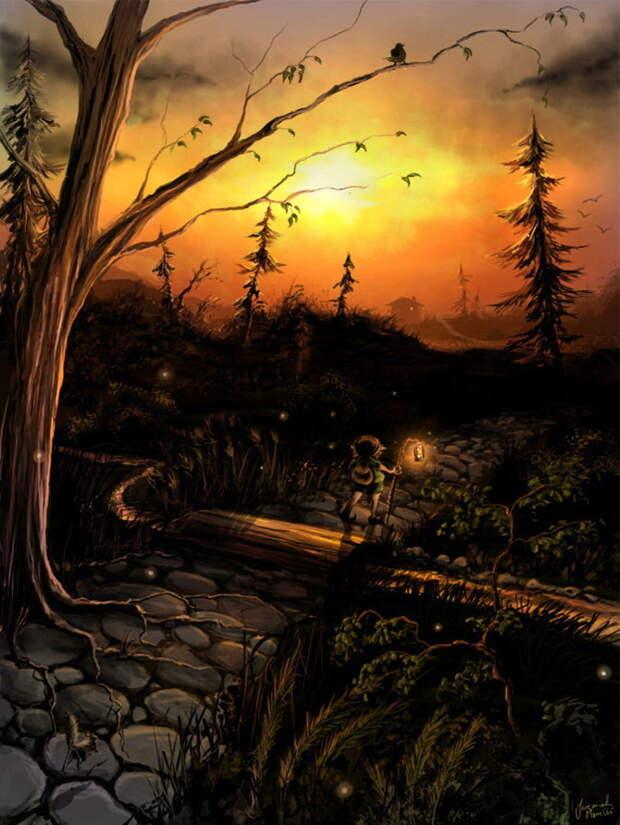 Сказочные рисунки Джеремии Морелли