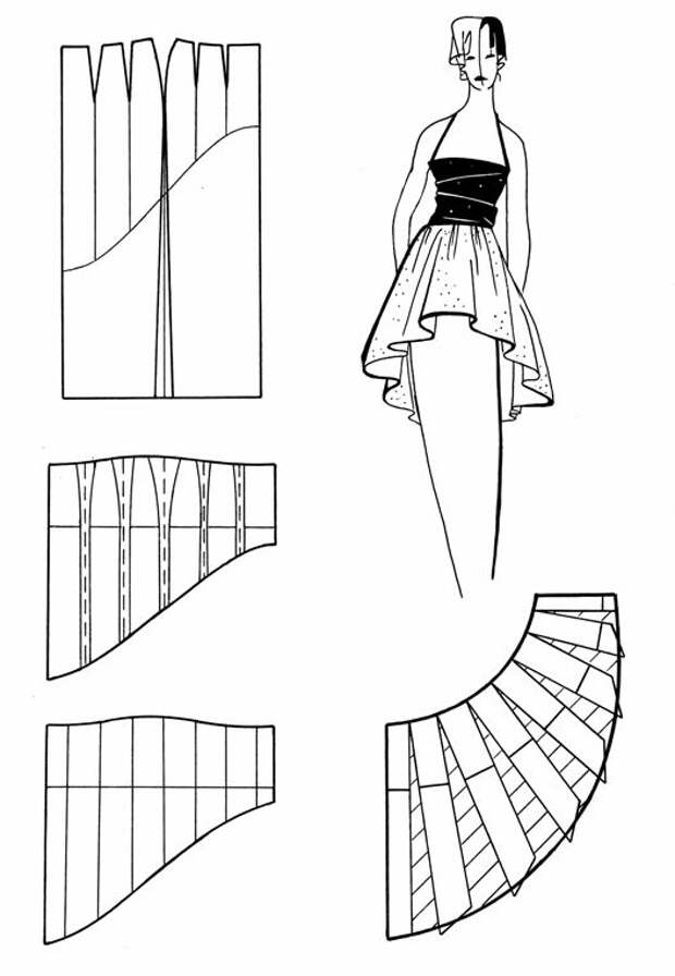 Моделирование юбок сложных фасонов 4