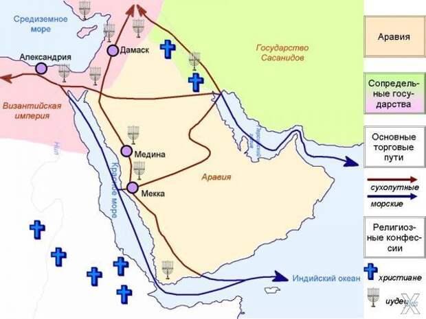 Аравийский полуостров перед появление...