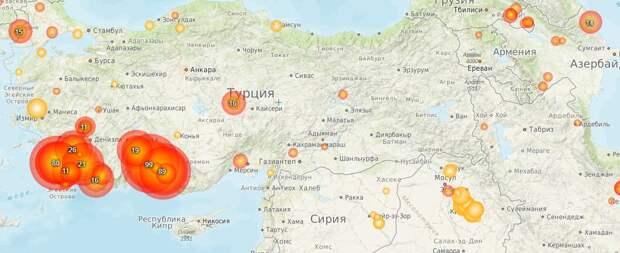 Пожары в Турции: карта и обстановка на курортах сейчас
