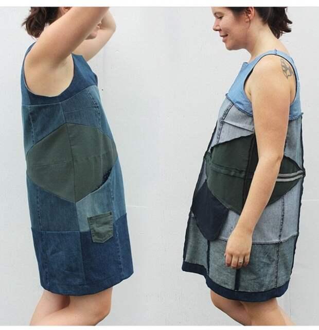 Платье из джинсов
