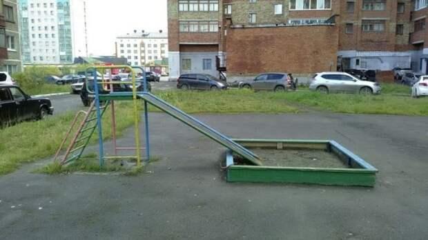 Детские площадки, которые оставляют желать лучшего (17 фото)