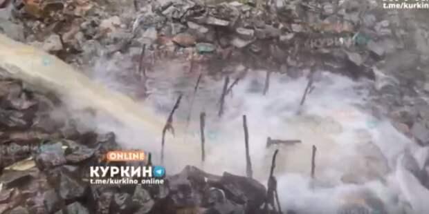 В реке Сходне жители Куркина обнаружили горячую мутную воду