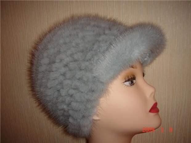 Вязание пуловера и шапки с мехом