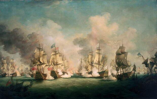 Сражение при Барфлёре, 29 мая 1692 года. Художник Ричард Патон - Шпион, выйди вон | Warspot.ru