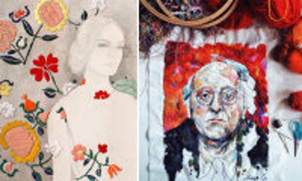 Современное искусство: Не только крестики и гладь: 6 художниц, превративших обыкновенную вышивку в современное искусство