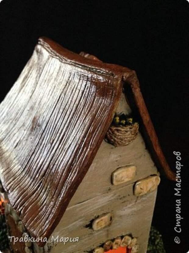 Мастер-класс Поделка изделие Лепка Свечной дом Глина фото 4